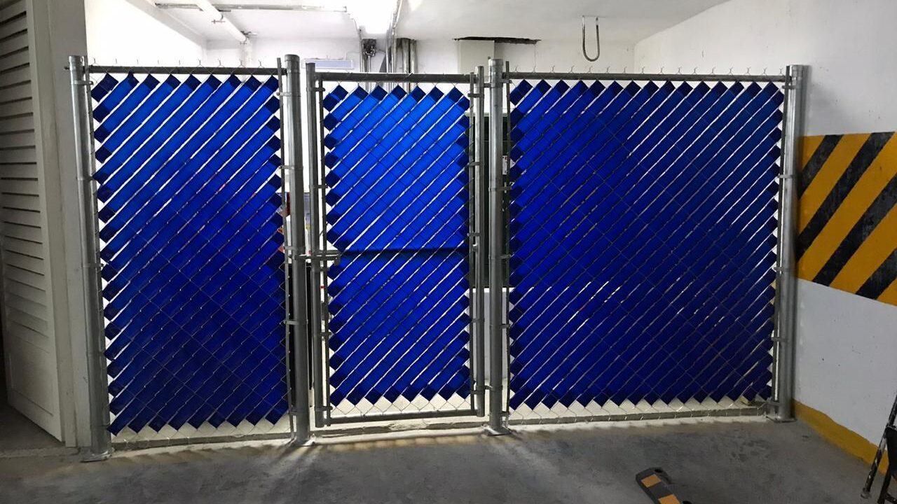 Cintilla de privacidad color azul